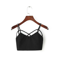 Fashion Women's  Casual Summer Tank Tops Vest Blouse Sleeveless Crop Tops Shirt