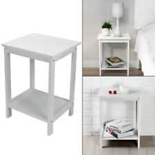 White Bedside Bedroom Bathroom Table Cabinet Nightstand Storage Unit