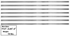 1951-53 Chevrolet Pickup Bed Strip Kit Stainless Steel For Short Bed - 7 Pieces