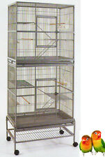 Large Stackabel Double Breeding Flight Bird Cage Cockatiel Aviary Budgie Finch