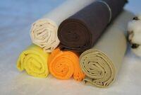 """5 Stück Baumwollstoff Patchwork Stoffe DIY 50x70 cm """"Traum"""" UNI Stoffpaket Nähen"""