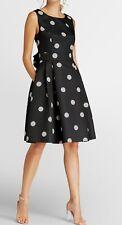 Apart Punktekleid Kleid Festkleid Partykleid Coktailkleid schwarz ecru 42