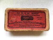 EMPTY BOX OF REMINGTON .32 S&W SHOT AMMO BOX CHILLED SHOT