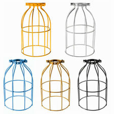 Retro Metal Cage Industrial Wire Frame Pendant Light Loft Ceiling Lamp Shade