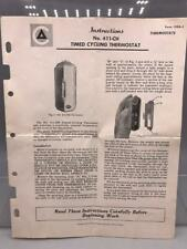 Vintage Detroit Controls 411 CH Time Cycling Thermostat Instructions