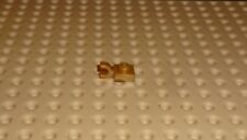 LEGO - PLATE, Modified 1 x 1 with U Clip Horizontal, PEARL GOLD x 4 (6019) PM12