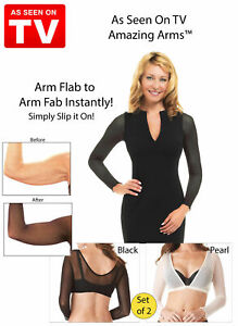 Amazing Arms Slimming Concealing Arm Wrap From Flab To Fab Instant S/M US Seller