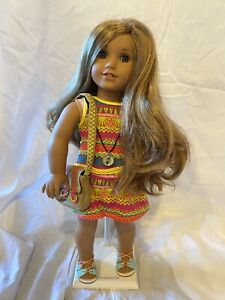 "AMERICAN GIRL 18"" DOLL LEA CLARK doll of Year 2016 EUC With Original Book"