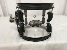"Pearl Crystal Beat 8"" Diameter X 7"" Deep Mounted Tom/#730/Ultra Clear/Black HD"