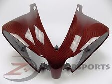 2012-2014 R1 Upper Front Nose Headlight Panel Fairing Cowl Carbon Fiber Red
