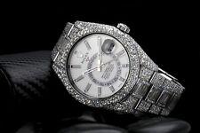 Rolex Sky Dweller White Dial Stainless Steel 326934 Custom Diamond Watch with Ba