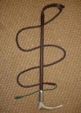 Swaine Hallmarked Silver Ladies Leather Hunt Whip & Lash 'Amy Stewart - Dunloe'
