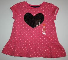 NWT Gymboree Girls Prep Perfect Polka Dot Heart Top Size 12-18 M