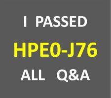 I Passed 67-Q&A Designing HPE Enterprise Storage Solutions Test HPE0-J76 Exam