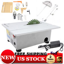 T5 Mini Precision Small Table Saw Blade Diy Woodworking Cutting Machine 100W 24V