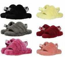 UGG Kid's Fluff Yeah Slides Sandals for Kids/ Big Kids Fit Women Authentic