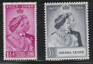 Sierra Leone   1949   Sc # 188-89   Silver Wedding   MLH   (6053-2)