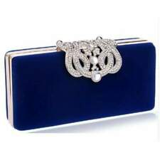 Velvet Chain Shoulder Evening  Small Clutch Bag