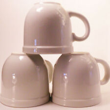 Culinary Arts Cafeware White Porcelain Coffee Tea Mugs Lot of 3 10 oz Vintage