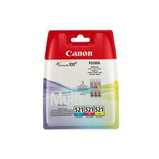 Canon CLI-521 C/M/Y Tintenpatronen cyan: magenta und gelb blister
