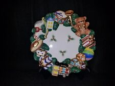 Fitz and Floyd - Christmas Toyland Canape/Serving Plate - 1997