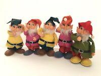 Vintage Felt Chubby Gnomes Elf Pixie Dwarf Big Feet All New Material Japan Lot 5