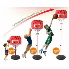 Adjustable Basketball Back Board Stand  Hoop Set For Children Kids Xmas Gift Toy