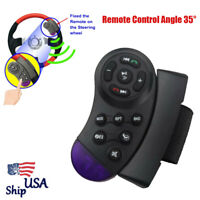 Car Steering Wheel Button Remote Control Angle 35° Bluetooth For DVD MP3 GPS USA