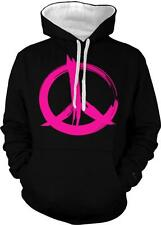 Pink Peace Sign Love Equality Pride Same Rights 2-tone Hoodie Pullover