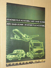 Prospectus SAAB & Camion SCANIA  Non daté  catalogue  brochure  truck LKW