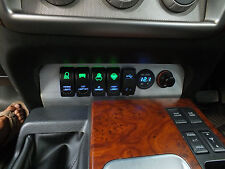 GU Patrol Series 4 -on Switch Panel 5 ARB Carling style Switches and 2 socket