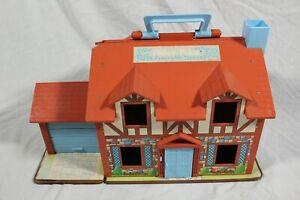 Vintage 1980 Fisher Price Little People Tudor Playhouse 952 Bundle Figures Cars