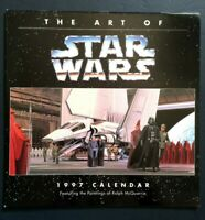 1997 The Art of Star Wars Vintage Wall Calendar Paintings of Ralph McQuarrie