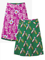 White Stuff Green/Purple  Bloomseed Reversible Skirt - Size 10 - 18