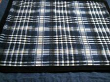DENIM AND BLUE/BLACK PLAID STANDARD SIZE PILLOW SHAMS HOME DECOR (2)