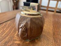 Robert Thompson Mouseman Solid Carved Oak Lighter.Rare. Kilburn Yorkshire
