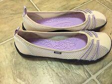 Jambu Women's Shoes size 7.5 M Spin too barefoot vegan ballet flat cream/purple