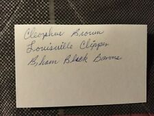 Cleophus Brown Signed 3x5 Index Card
