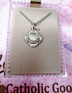 """Holy Spirit with 7 gifts -  Pewter - 3/4""""  medal - 18"""" chain"""