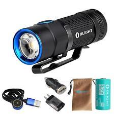 Olight S1R Baton 900 Lumen USB Rechargeable LED Flashlight w/ USB AC Car Adapter