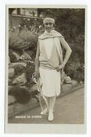 RPPC Senorita (Lili) Alvarez. Spanish Tennis star c 1930s. By E. Trim, Wimbledon