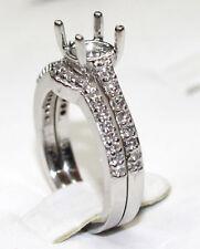 White Gold Diamond Wedding Set Setting 14K Gold