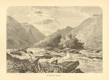 North Carolina, French Broad River, Mountain Island, Vintage, Antique Art Print,