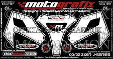 Kawasaki ZX6R 2000 - 2002 Front Fairing Number Board Motografix 3D Gel Protector