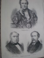 The Sherrifs of London and Middlesex 1872 old print my ref S