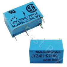 10 x JY24H-K 24VDC 4 Pin Relay 5A 30VDC 250VDC SPST Signal TAKAMISAWA FUJITSU