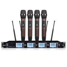 4 channels Professional Vocal Microphone UHF Wireless Microphone stage karaoke