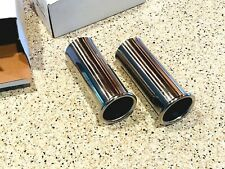 MERCEDES BENZ 230SL 250SL 280SL EXHAUST TIP STAINLESS STEEL POLISHED PAIR