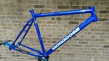 "NOS 90's Mongoose Manuever 18"" Frame Retro Mtn Commuter Steel Rigid Maurice 9a"