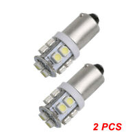 2X BA9S W5W 10 SMD 1210 3528 LED Auto Width Lamp License Plate Light Tail Bulb